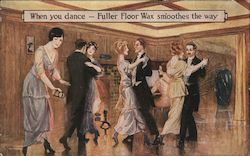 When you dance, Fuller Floor Wax smoothes the way Postcard