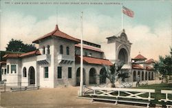 999 New Bath House Showing End Facing Ocean Santa Barbara California Postcard