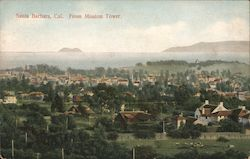 Aerial View From Mission Tower Postcard