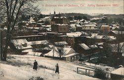 Bird's Eye View during Snow-storm 1907 Postcard