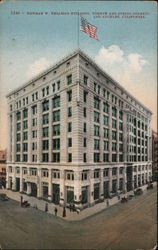 Herman W. Hellman Building, Fourth and Spring Streets Postcard
