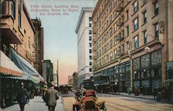 Fifth Street, Looking East, Alexandria Hotel to Right Postcard