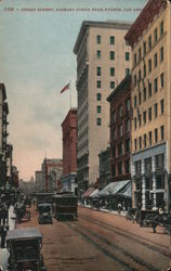 Spring Street, Looking North from Fourth Postcard