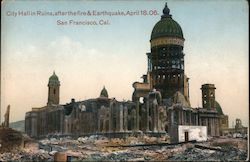 City hall in ruins, after fire & earthquake, April 18.06 Postcard