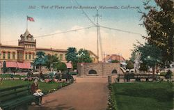 Part of Plaza and the Bandstand Postcard