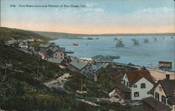 Fort Rosecrans and Portion of San Diego Postcard
