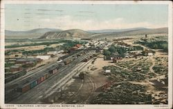 """California Limited"" Leaving Barstow, Calif. Postcard"