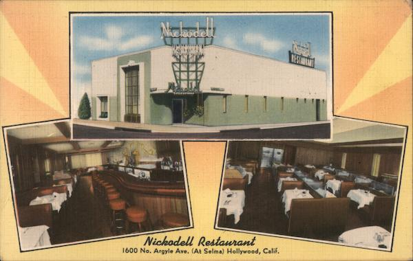 Nickodell Restaurant Hollywood California