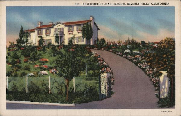 Residence of Jean Harlow Beverly Hills California