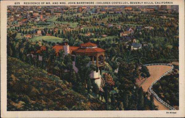 Residence of Mr. and Mrs. John Barrymore (Dolores Costello) Beverly Hills California