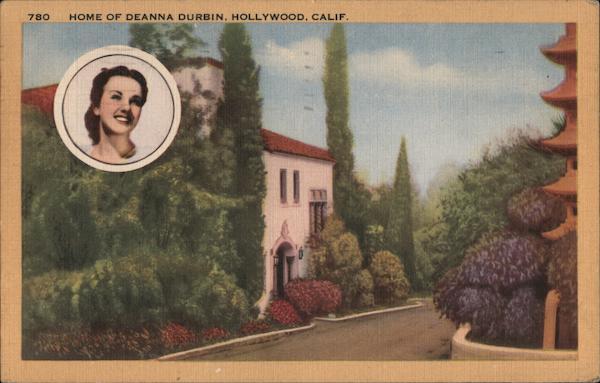 Home of Deanna Durbin Hollywood California