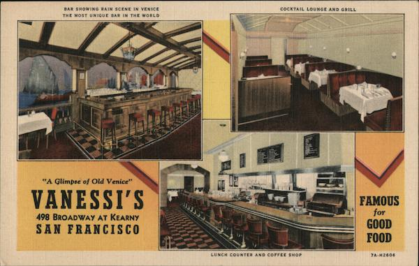 Vanessi's Restaurant - Broadway at Kearny San Francisco California