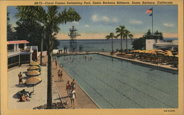 Coral Casino swimming pool, Biltmore Santa Barbara California