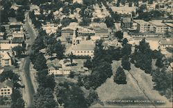 Air view of North Brookfield Postcard