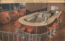 The Masque Room, Alexandria Hotel Postcard
