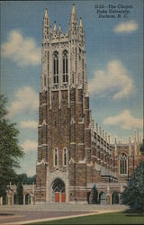 The Chapel, Duke University Postcard
