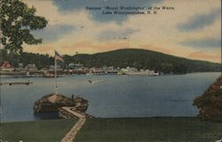 Steamer Mount Washington at the Wiers. Dock, boats, harbor Postcard