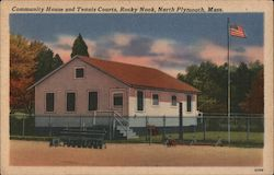 Community House and Tennis Courts, Rocky Nook Postcard