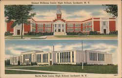Emmet Belknap Junior High School, North Park Junior High School Postcard