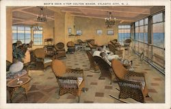 Ships deck a'top Colton Manor Postcard
