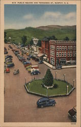 Public Square and Tennessee St., roundabout Postcard