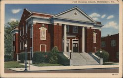 First Christian Church Postcard