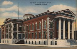 St. Clair County Court House Postcard