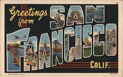 Greetings from San Francisco, Calif. Postcard