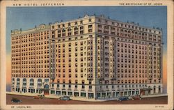 New Hotel Jefferson, The Aristocrat of St. Louis Postcard