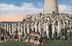 Fishing Rodeo, Rio Grand Valley. Women fishers, hanging line of fish. Postcard