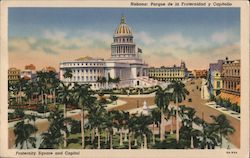 Fraternity Square and Capitol Postcard