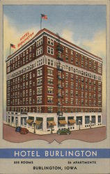 Hotel Burlington Postcard