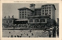 Flanders Hotel & Swimming Pool Postcard