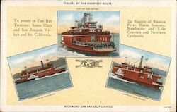 Richmond San Rafael Ferry Company Postcard