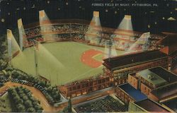 Forbes Field by Night Postcard