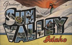 Greetings from Sun Valley, Idaho Postcard