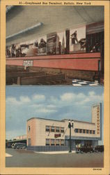 Greyhound Bus Terminal Postcard