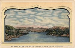 Scenic painting by Bertha Judson Rundstrom. Baptistry of the First Baptist Church Postcard