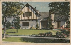 Home of William Powell Postcard