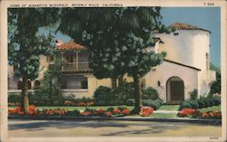 Home of Jeannette McDonald Postcard