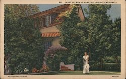 Janet Gaynor at Home Postcard