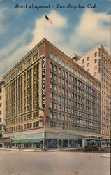 Hotel Hayward 6th and Spring Streets Postcard