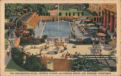 The Ambassador Hotel, Crystal Plunge and Suntan Beach Postcard