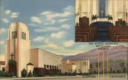 The Tower of Light, altar view North Glendale Methodist Church Postcard