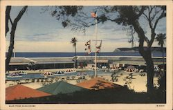 Hotel Del Coronado, beach, pool, tennis club, Point Loma Postcard