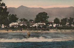 Aquaplaning at the Santa Barbara Biltmore Postcard