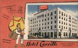 Hotel Carrillo Postcard