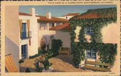 Patio, Paseo De La Guerra Shops Postcard