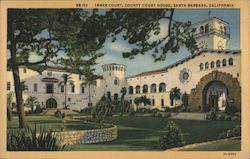 Inner court, County Court House Postcard