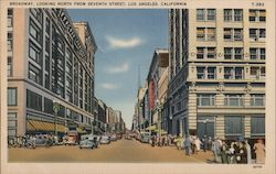 Broadway, looking North from Seventh Street Postcard
